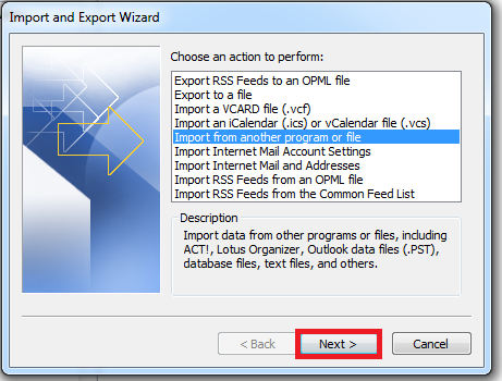 How to Import Emails (PST File) in Outlook 2010